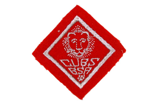 Lion Rank Patch 1930s Felt Wide Border