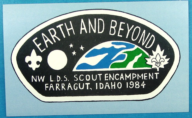 1984 Northwest Area LDS Scout Encampment Decal