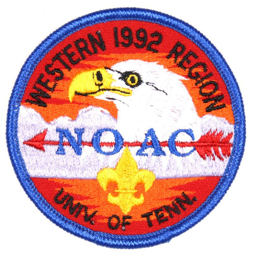 1992 NOAC Western Region Patch Blue Border
