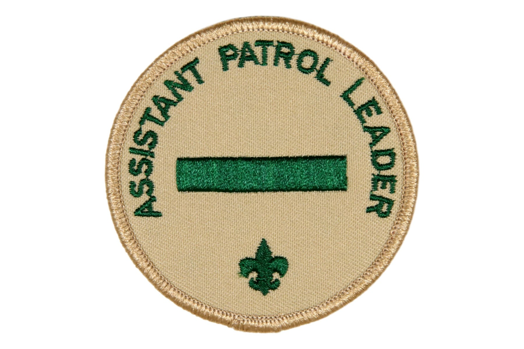 Assistant Patrol Leader Patch Tan Clear Plastic Back