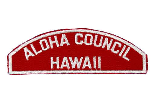 Aloha Red and White Council Strip