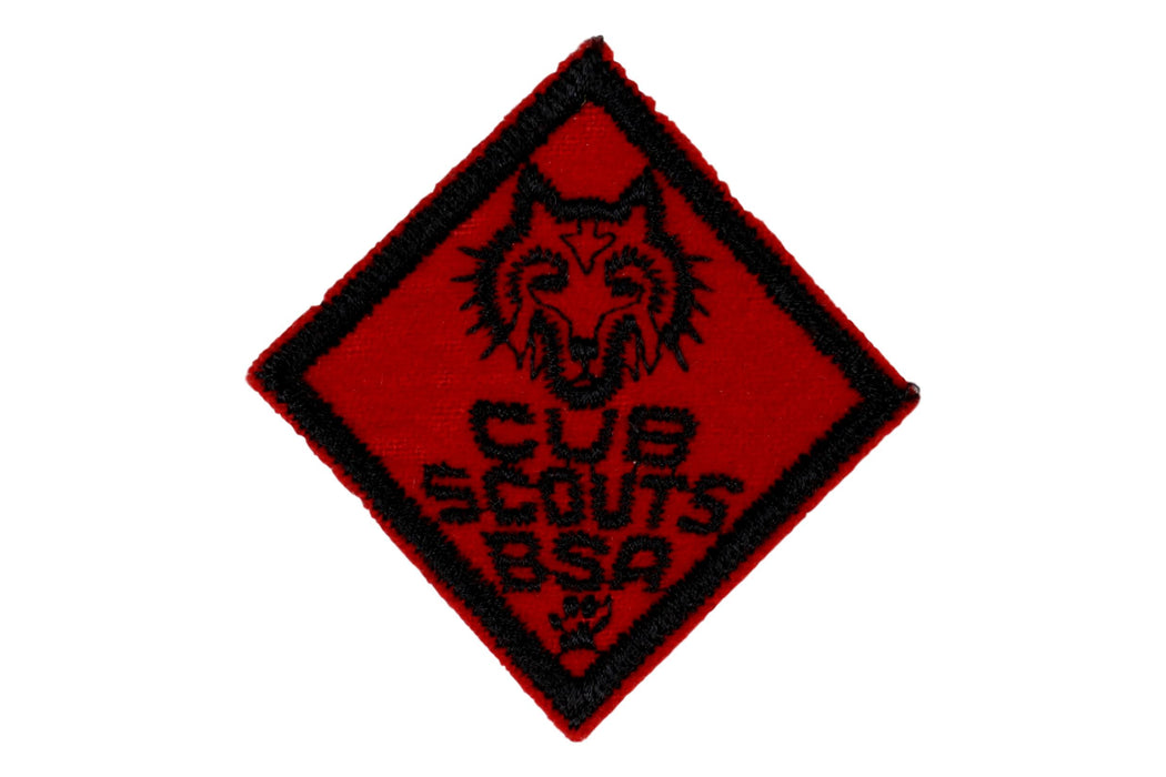 Wolf Rank Patch 1940s - 1950s Felt