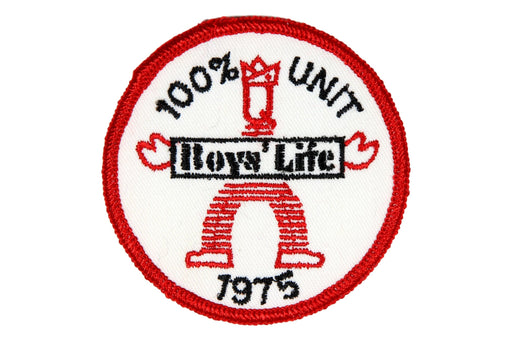 1975 Boys Life 100% Unit Patch