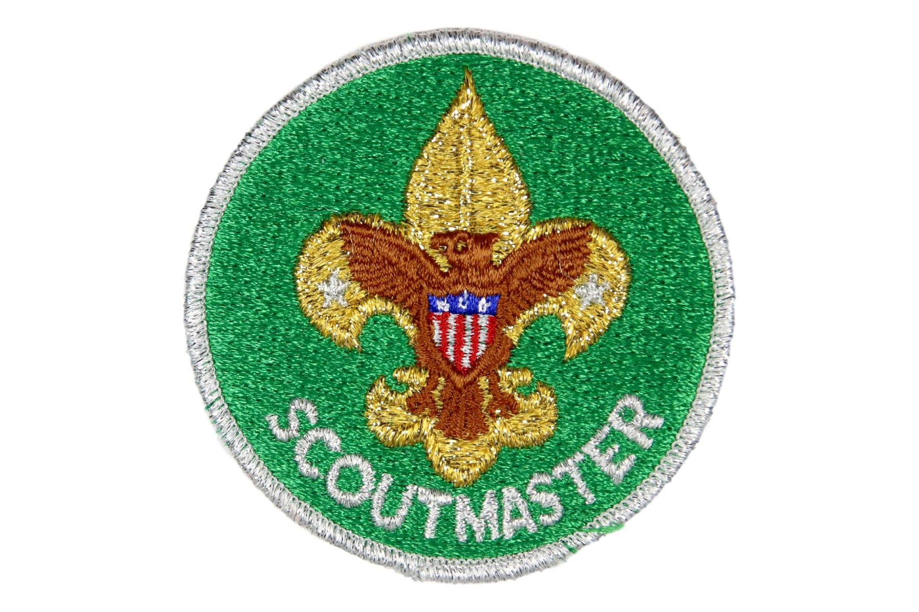 Scoutmaster Patch 1980s with Silver Mylar Border