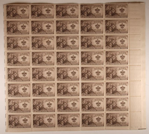 Sheet of Boy Scout Stamps