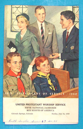 1960 NJ United Protestant Worship Service Pamphlet