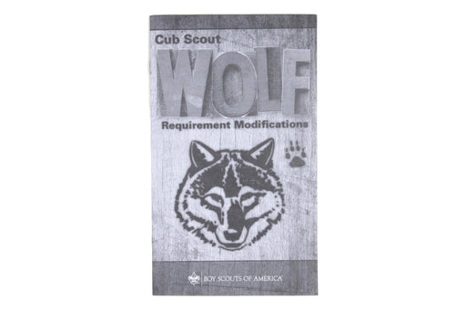 Wolf Cub Scout Requirement Modifications Booklet 2017