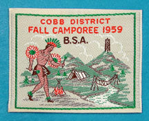 Cobb District Fall Camporee Patch 1959