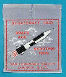 San Fernando Valley Council Scoutcraft Fair 1959 Patch