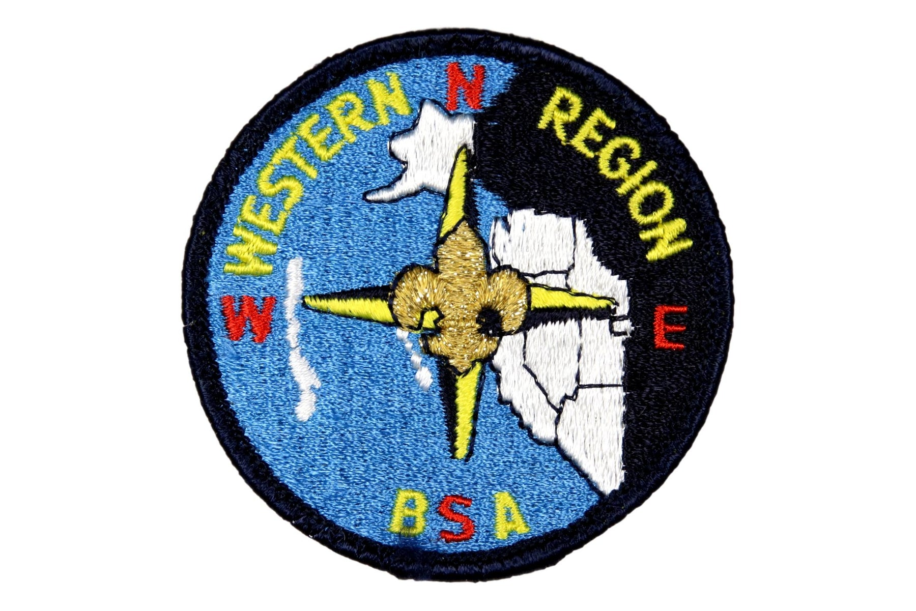 Western Region Patch BLK Border Blue Plastic Back