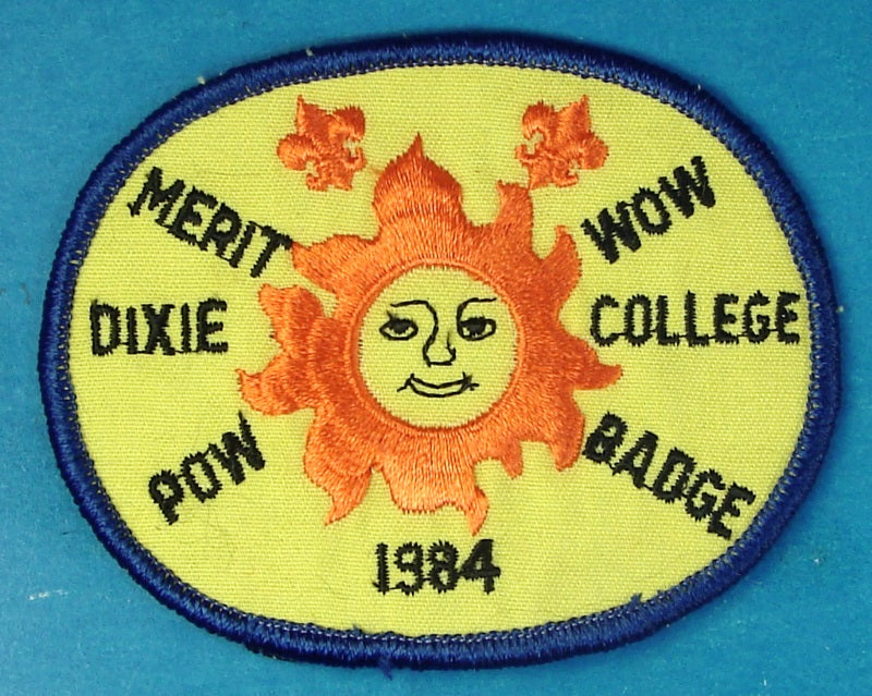 1984 Dixie College Merit Badge Pow Wow Patch