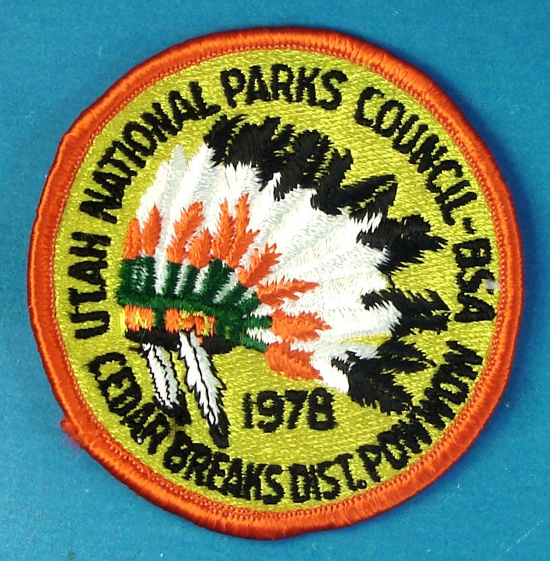 1978 Cedar Breaks Merit Badge Pow Wow