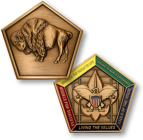 Buffalo Wood Badge Medallion