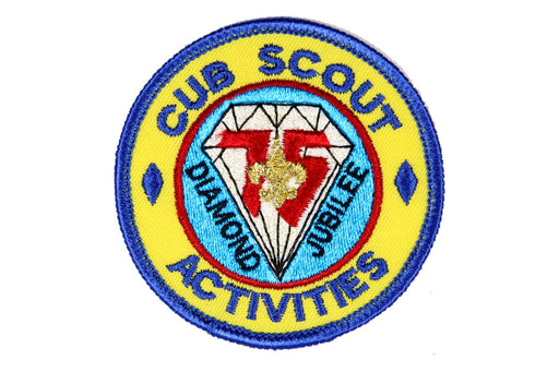 Cub Scout Activities Patch Plastic/Gauze Back