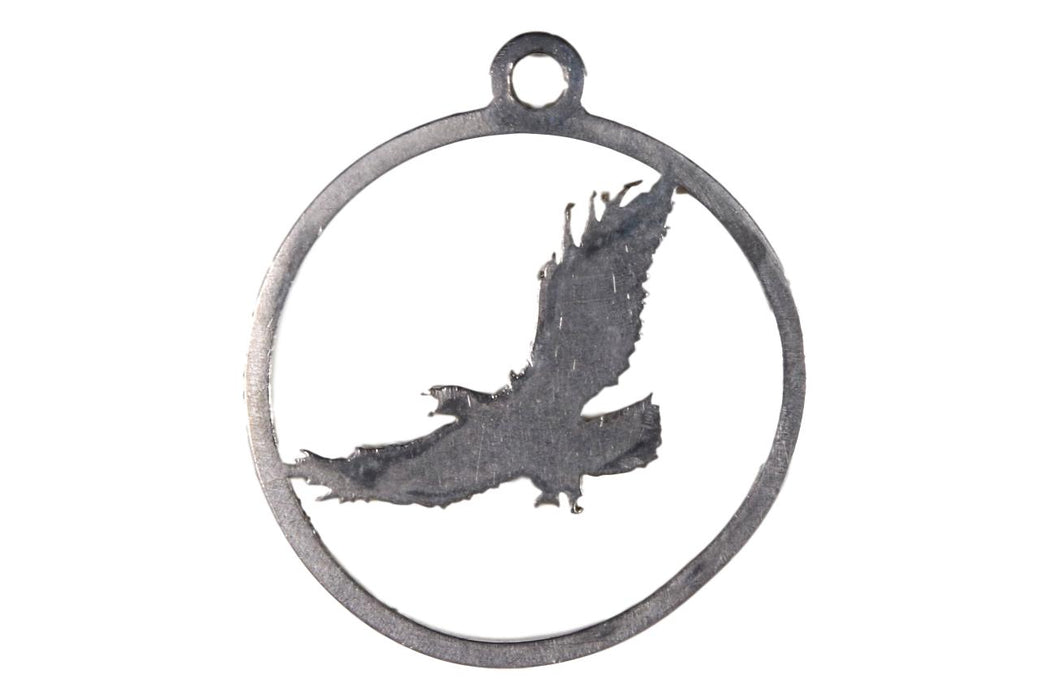 Laser Engraved Eagle Pendant