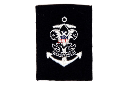 Sea Scout Quartermaster Patch Blue Rolled Edge