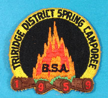 Tri Ridge District Spring Camporee Patch 1959