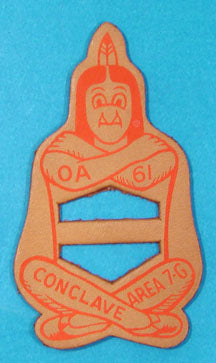 1961 Area 7G Section Conclave Leather Neckerchief Slide