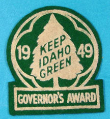 Keep Idaho Green 1949 Governor's Award on Felt