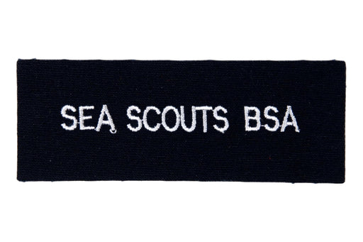 Sea Scouts B.S.A. Shirt Strip White on Black Twill