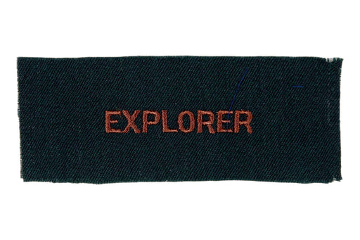 Explorer Shirt Strip Brown on Forest Green Felt
