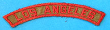 Los Angeles Red and Tan City Strip