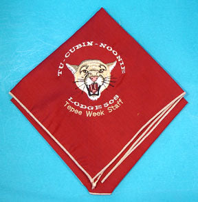 Lodge 508 Neckerchief 1998 TePee Week Staff