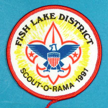 Fish Lake District 1991 Scout O Rama Patch