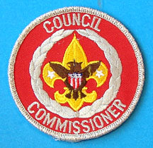 Council Commissioner Patch Silver Mylar Border