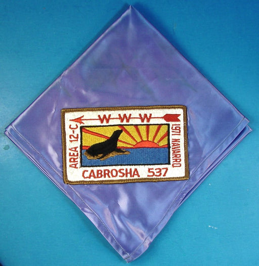 1971 Section 12C Conference Neckerchief Lodge 537