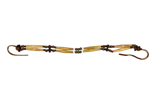 2 - Row Assembled Choker - Bone and Glass Beads