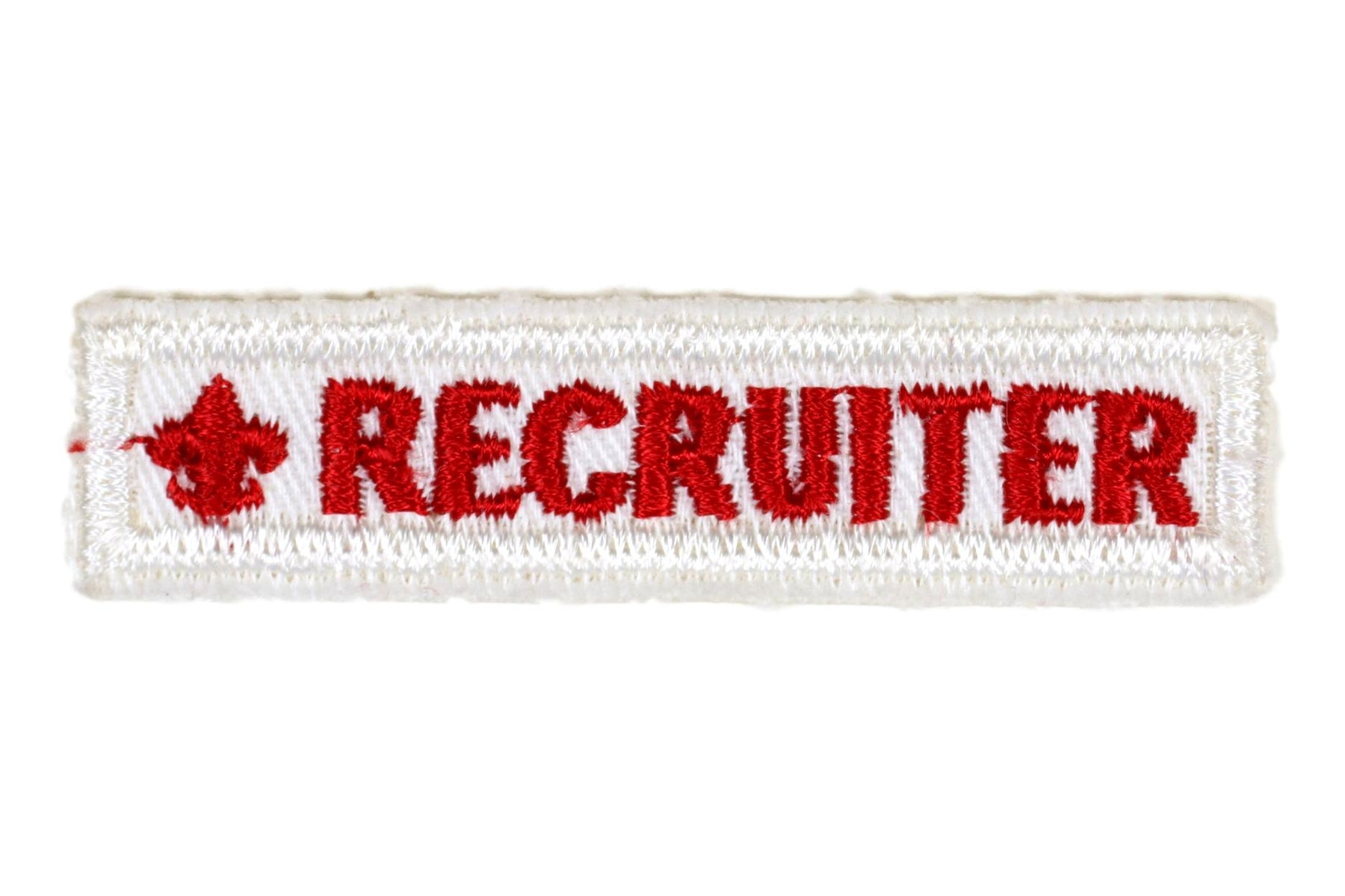 Recruiter Strip White Twill