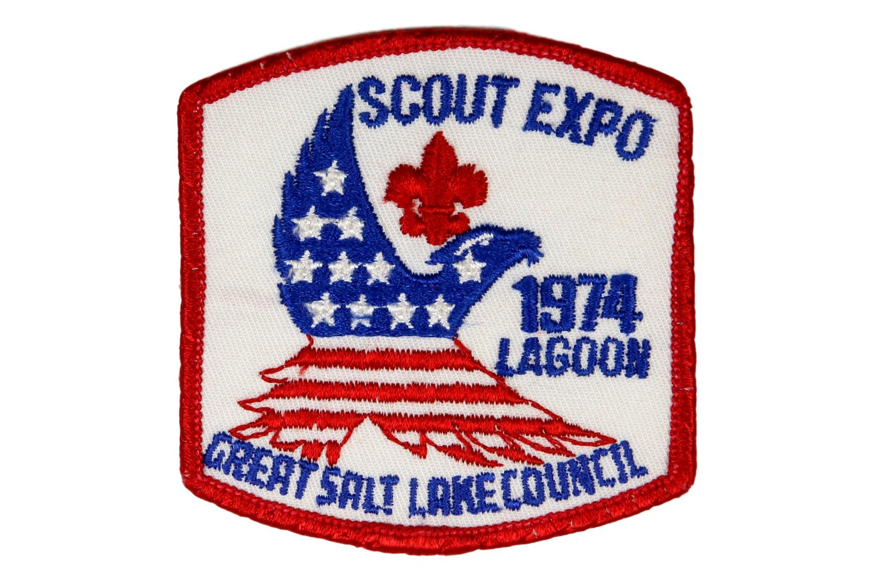 1974 Great Salt Lake Scout Expo Patch White
