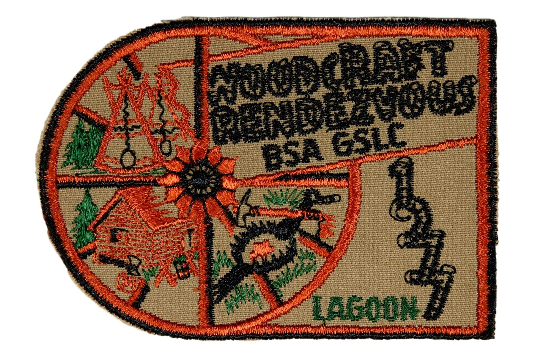 1977 Great Salt Lake Scout O Rama Patch Woodcraft Rendezvous