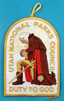 Utah National Parks Council Duty to God Patch Gold Border