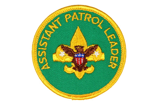 Assistant Patrol Leader Patch 1970s Gauze Back