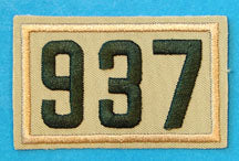 937 Unit Number Green on Tan