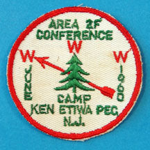 1968 Area 2F Conference Patch