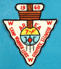 1968 Area 7F Section Conclave Patch