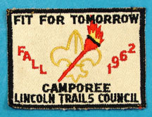 Lincoln Trails Council 1962 Camporee Patch