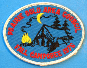 1976 Fall Camporee Patch Prairie Gold Area