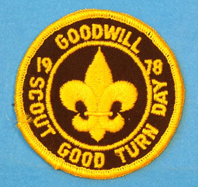1978 Scout Good Turn Day Patch Goodwill