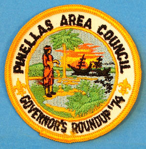 1974 Governor's Roundup Patch Pinellas Area