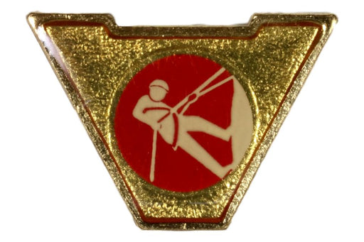 Varsity Scout Letter Pin Rock Climbing and Rappelling