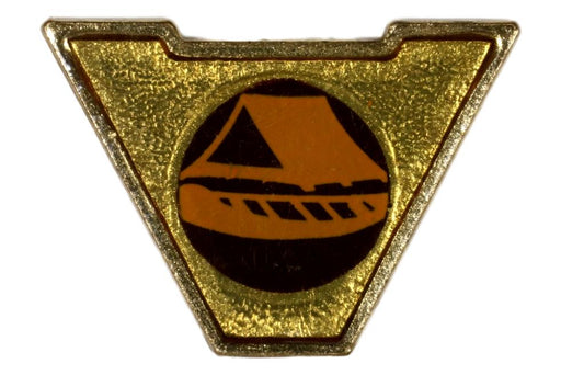 Varsity Scout Letter Pin Canoe Camping