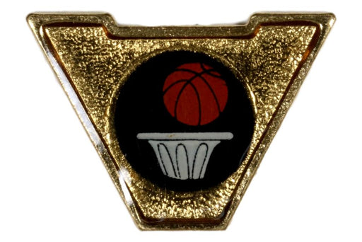Varsity Scout Letter Pin Basketball