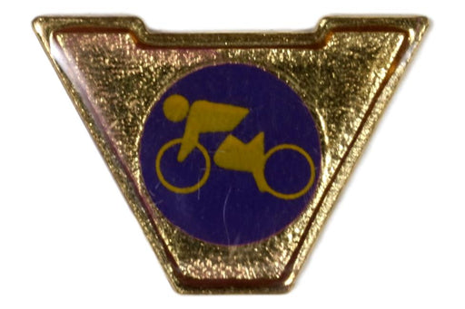 Varsity Scout Letter Pin Cycling
