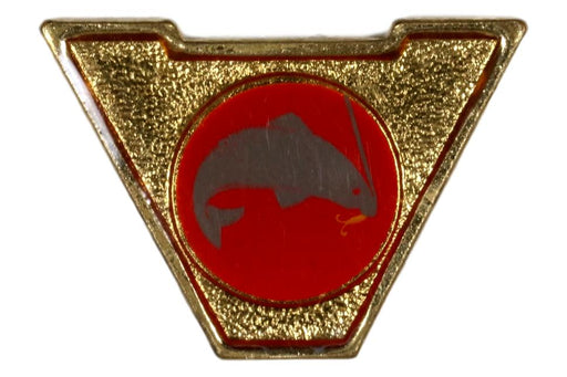 Varsity Scout Letter Pin Fishing