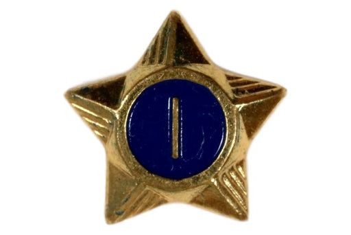 1 Year Service Star Screw Back 1920s-1940s