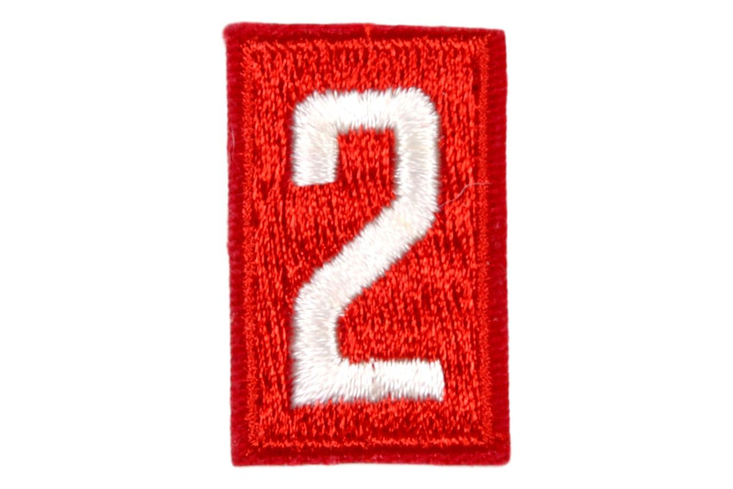 2 Unit Number White on Red Paper Back